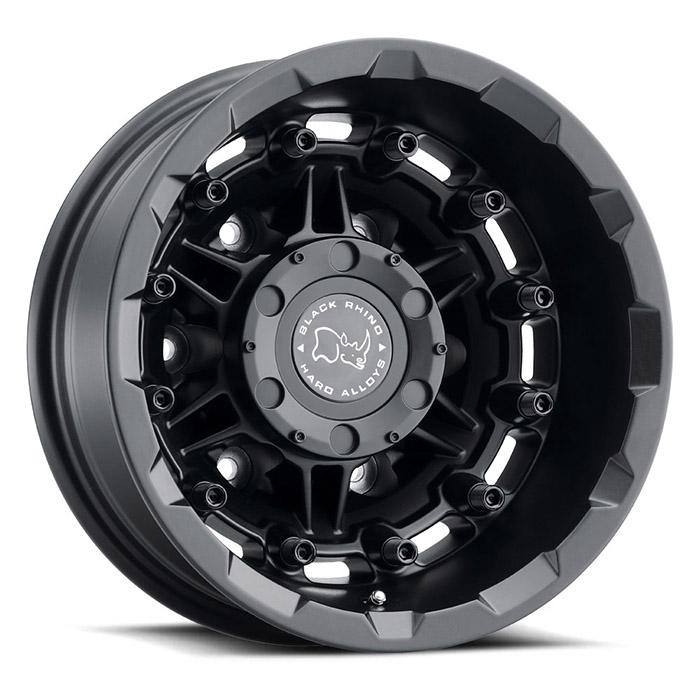 BLACK RHINOホイール Destroyer(デストロイヤー) テクスチャーマットブラック [リア]