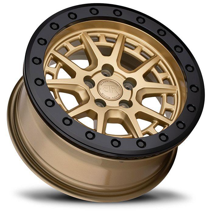 BLACK RHINOホイール Gravel Beadlock(グラベル ビードロック) ゴールド w/ブラックリング&ボルト