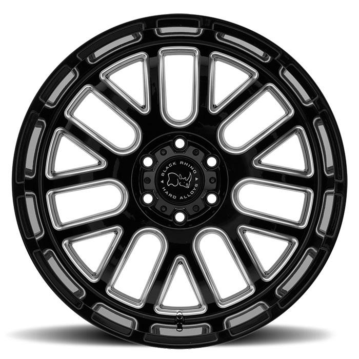 BLACK RHINOホイール Pismo(ピズモ) グロスブラックw/ミルドスポーク [SPサイズ]