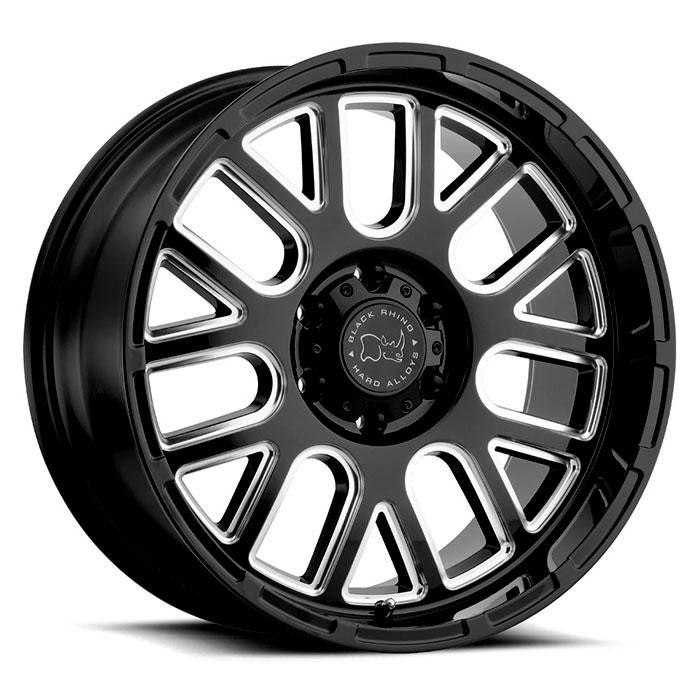 BLACK RHINOホイール Pismo(ピズモ) グロスブラックw/ミルドスポーク