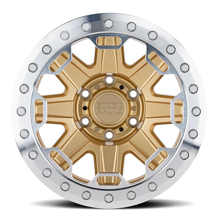 BLACK RHINOホイール Rift Beadlock(リフト ビードロック) マットゴールド w/マシニドリング
