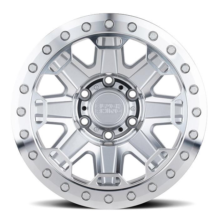 BLACK RHINOホイール Rift Beadlock(リフト ビードロック) シルバー w/ミラーフェイス&ステンレスボルト