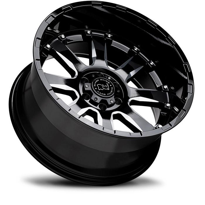 BLACK RHINOホイール Sierra(シエラ) グロスブラックw/ミルドスポーク [SPサイズ]
