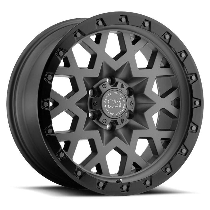 BLACK RHINOホイール Sprocket(スプロケット) マットガンメタル w/ブラックリップエッジ