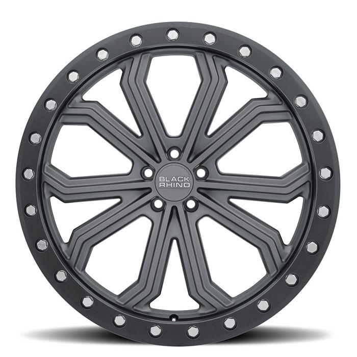 BLACK RHINOホイール Trabuco(トラブコ) マットガンメタルw/ブラックリップエッジ&シルバーボルト
